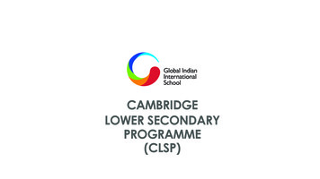 GIIS Cambridge Lower Secondary Programme Booklet