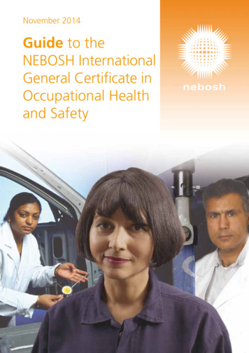 Guide to the NEBOSH International General Certificate in .
