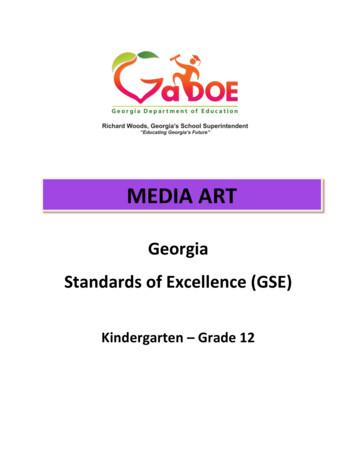 K-12- MEDIA ART GSE 6 15 17 - Georgia Standards