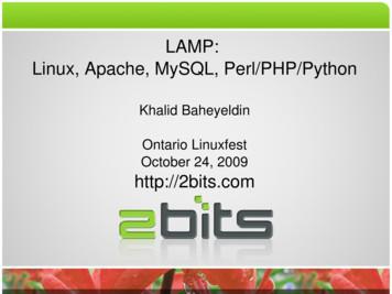 LAMP: Linux, Apache, MySQL, Perl/PHP/Python