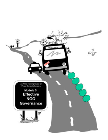 Effective NGO Governance - Peace Corps