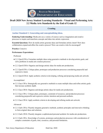 Draft 2020 New Jersey Student Learning Standards - Visual .