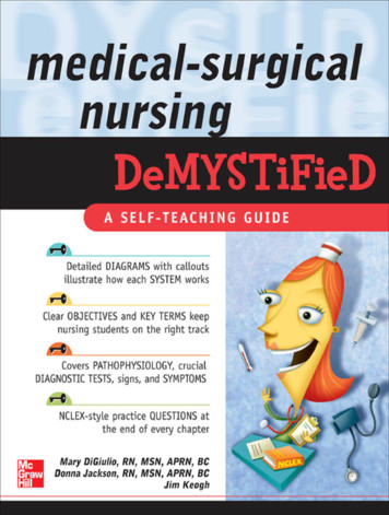 Medical-surgical Nursing Demystified - WordPress