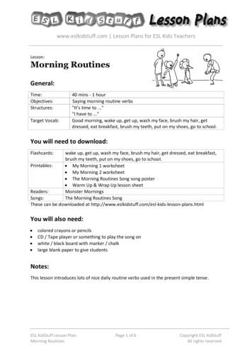Lesson: Morning Routines - ESL KidStuff