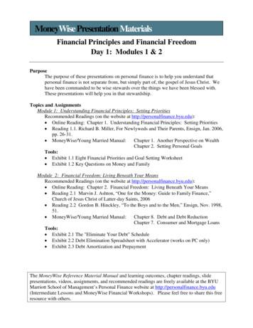 MoneyWise Presentation Materials - Personal Finance