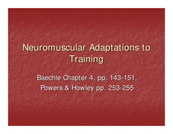Neuromuscular Adaptations to Training