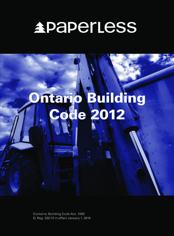 O. Reg. 332/12, into force on January 1, 2014. Ontario .