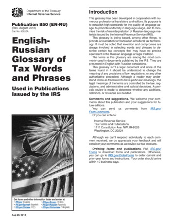 and Phrases Tax Words Glossary of Russian English-