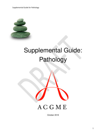 Supplemental Guide: Pathology - ACGME Home