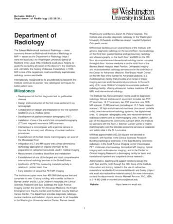 Department of Radiology - 2020-21 Bulletin