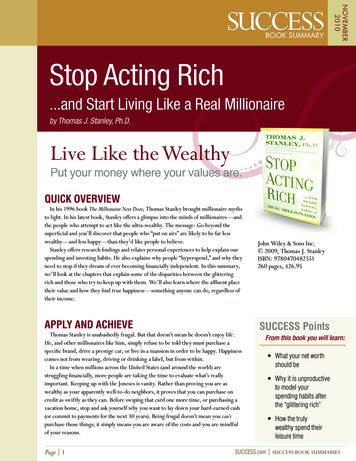 7779-010-127 SUMMARY STOP ACTING RICH