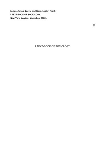 A TEXT-BOOK OF SOCIOLOGY - Geocities.ws