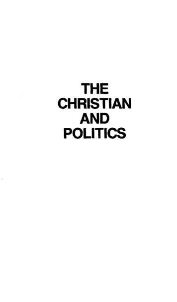 THE CHRISTIAN AND POLITICS - Gary North