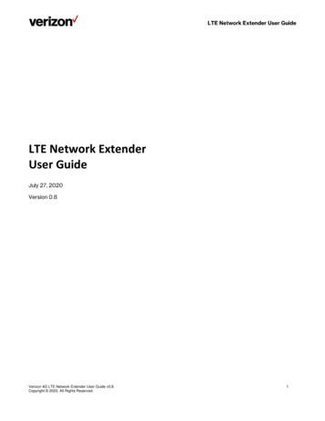 LTE Network Extender User Guide - Verizon Wireless