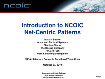 Introduction to NCOIC Net-Centric Patterns