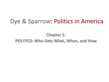 Chapter 1: POLITICS: Who Gets What, When, and How