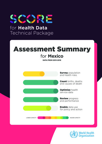 for Health Data Technical Package