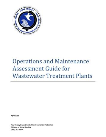 Operations and Maintenance Assessment Guide for Wastewater .