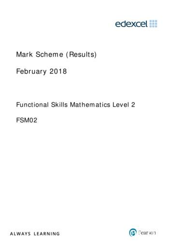 Mark Scheme (Results) February 2018 - Pearson qualifications
