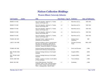 Nielsen Collection Holdings - wiu.edu