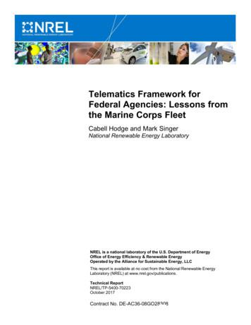 Telematics Framework for Federal Agencies: Lessons from .