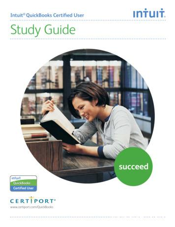 Intuit QuickBooks Certified User Study Guide