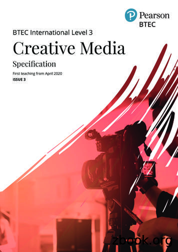 BTEC International Level 3 Creative Media