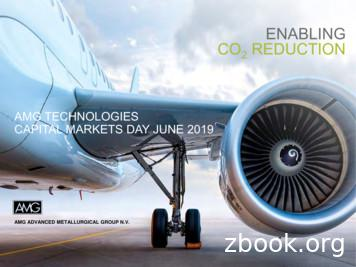 AMG TECHNOLOGIES CAPITAL MARKETS DAY JUNE 2019