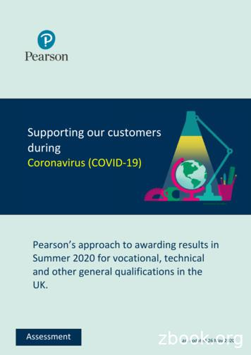 Supporting our customers during - Pearson