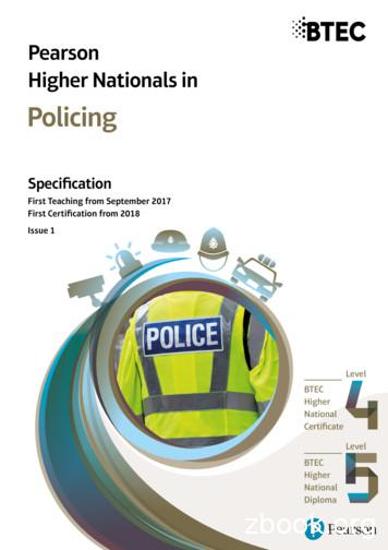 Policing - Pearson qualifications Edexcel, BTEC, LCCI .