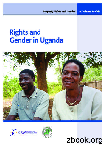 Rights and Gender in Uganda - ICRW