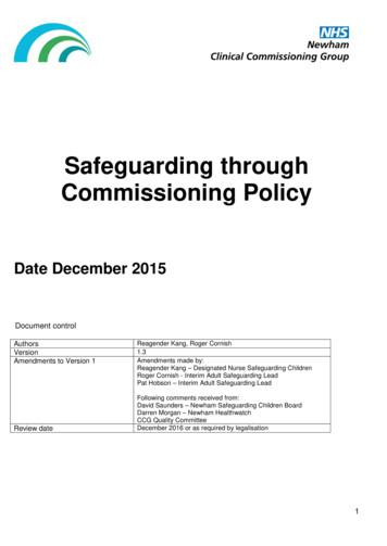 Safeguarding through Commissioning Policy