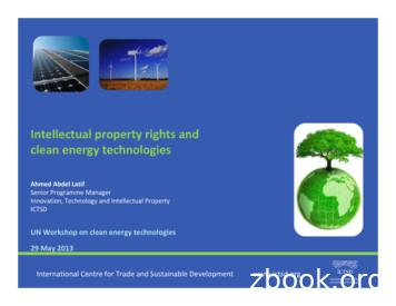 Intellectual property rights and clean energy technologies
