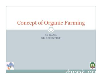 Concept of Organic Farming - Hill Agric
