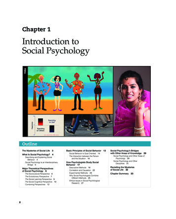 Introduction to Social Psychology - Pearson Education