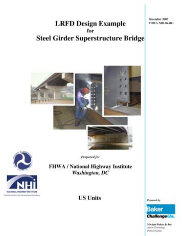 LRFD Design example for steel girder superstructure bridge .