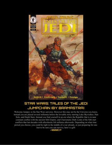 STAR WARS: TALES OF THE JEDI JUMPCHAIN (BY BRAMASTRA)