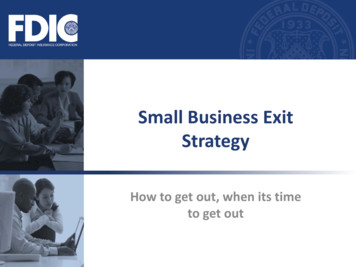 3-11 Small Business Exit Strategy