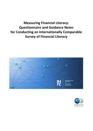 Measuring Financial Literacy: Questionnaire and Guidance .