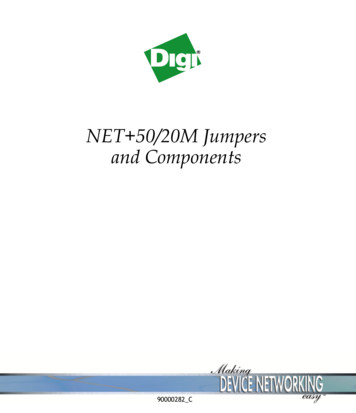 NET 50/20M Jumpers and Components - Digi International