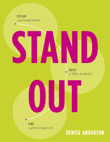 Stand Out: Design a Personal Brand. Build a Killer .