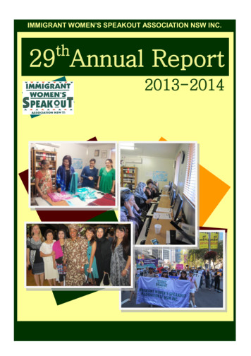 29thAnnual Report - Immigrant Women's Speakout Association NSW