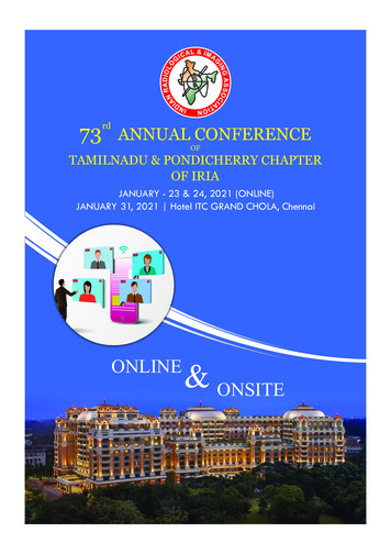 73 rd ANNUAL CONFERENCE