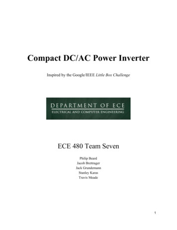 Compact DC/AC Power Inverter