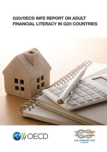 G20/OECD INFE REPORT ON ADULT FINANCIAL LITERACY IN G20 .