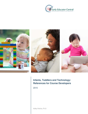 Infants, Toddlers and Technology: References for Course .