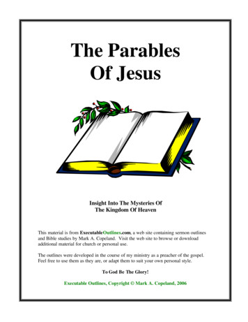 The Parables Of Jesus - Executable Outlines