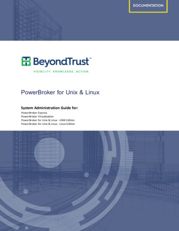 PowerBroker for Unix and Linux Admin Guides