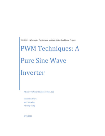 PWM Techniques: A Pure Sine Wave Inverter