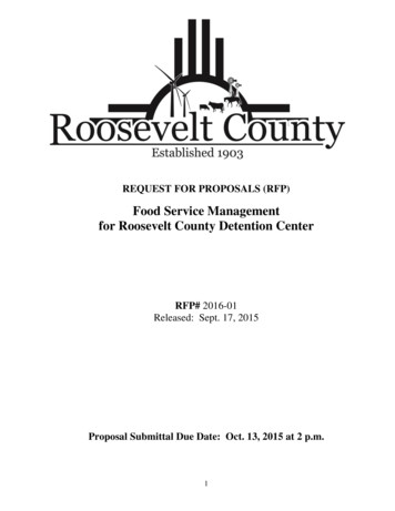 Food Service Management for Roosevelt County Detention Center